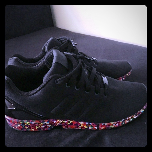 da5e6556a adidas Other - USED Adidas ZX Flux Sneakers- Black   Multicolored